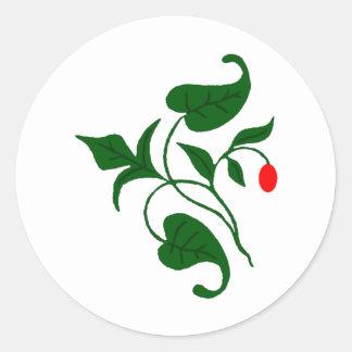Vined Round Sticker