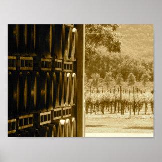 Vines and Barrels Poster