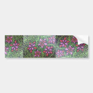 Vines and Flowers Bumper Sticker