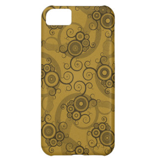 Vines Reticulation - Brown & Green Swirly Pattern Cover For iPhone 5C