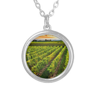 Vineyard at sunset necklaces
