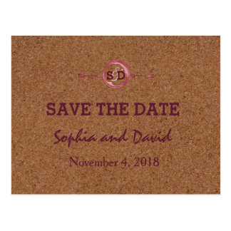 Vineyard Cork Stains Red Wine SAVE THE DATE Postcard