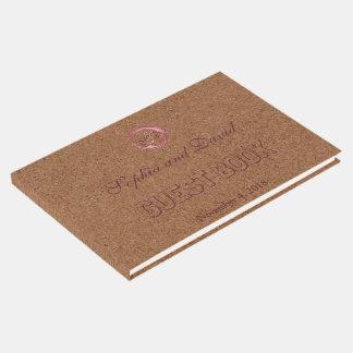 Vineyard Cork Stains Red Wine Wedding Guest Book