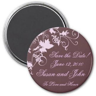 Vineyard Elegance Save the Date Refrigerator Magnet