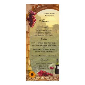 Vineyard Fall Wedding or Thanksgiving Dinner Menu Card