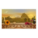 Vineyard Fall Wedding Seating Table Place Cards Pack Of Standard Business Cards