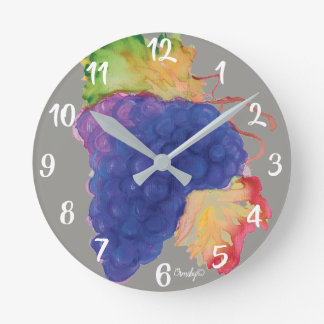 vineyard grapes clock