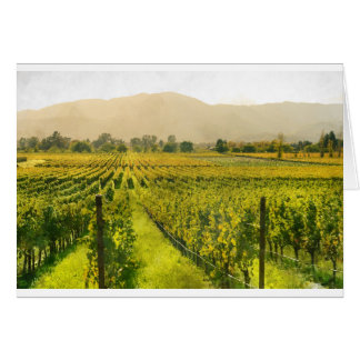 Vineyard in Autumn in Napa Valley California Card