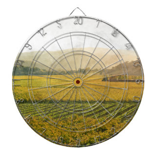 Vineyard in Autumn in Napa Valley California Dartboard