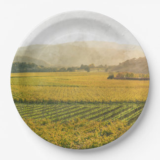 Vineyard in Autumn in Napa Valley California Paper Plate