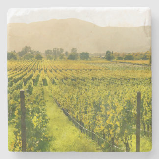 Vineyard in Autumn in Napa Valley California Stone Coaster