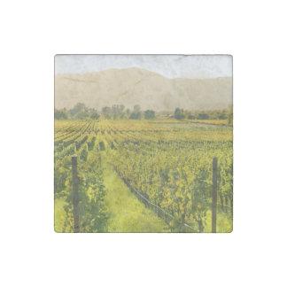 Vineyard in Autumn in Napa Valley California Stone Magnet