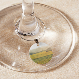 Vineyard in Autumn in Napa Valley California Wine Glass Charms