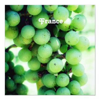 """Vineyard in France 5.25"""" Square Invitation Card"""