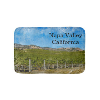 Vineyard in Napa Valley California Bath Mat