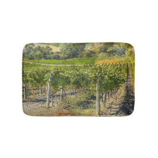 Vineyard in Napa Valley California Bath Mats
