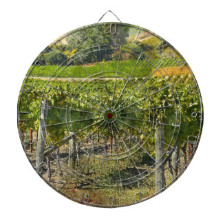 Vineyard in Napa Valley California Dartboard