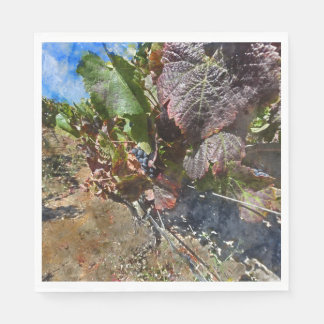 Vineyard in Napa Valley during Fall Paper Napkin