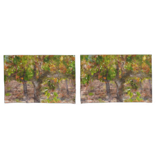 Vineyard in Napa Valley during Fall Pillowcase