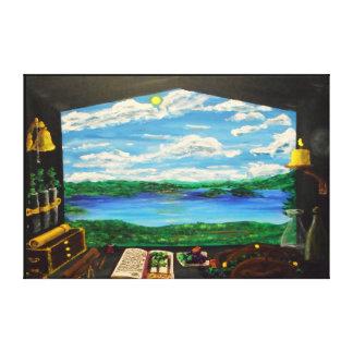 """Vineyard Lake-60""""x40"""" Canvas Print"""