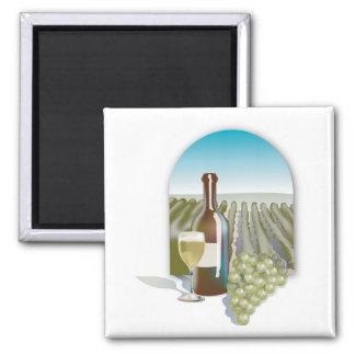 Vineyard Scene Square Magnet