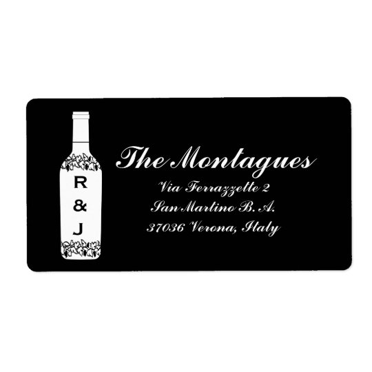 Vineyard Wedding Address Labels