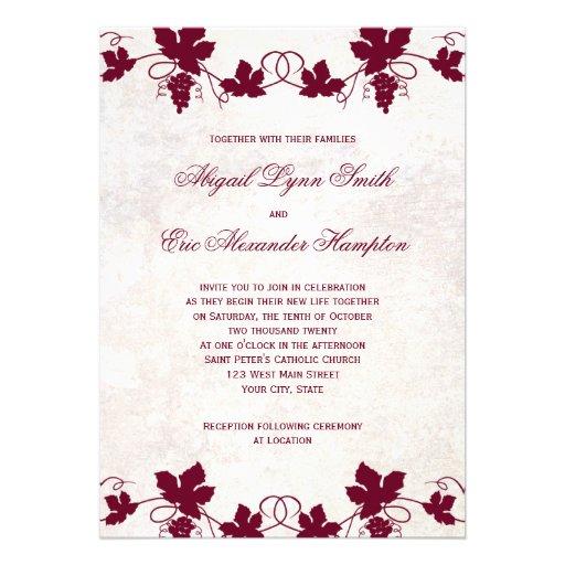 Vineyard Wedding Invitations