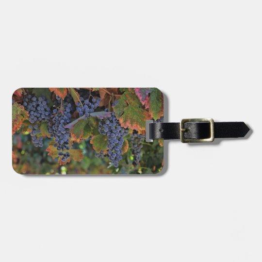 Vineyard Wine Grapes Luggage Tag Customisable