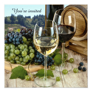 Vineyard Wine Theme Party Invitation