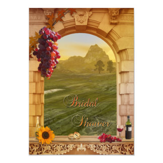 "Vineyard Wine Themed Fall Bridal Shower Invitation 5"" X 7"" Invitation Card"