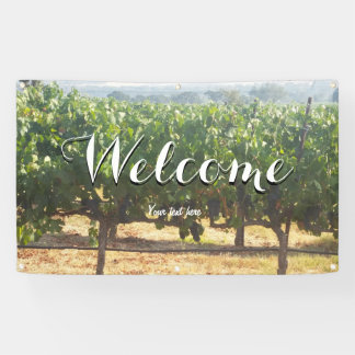vineyard winery welcome wedding party sign