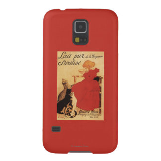 Vingeanne Milk Girl with Cats Cases For Galaxy S5