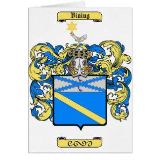 vining card