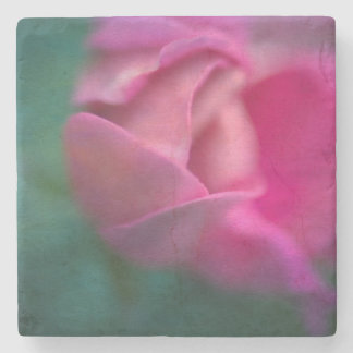 Vining Geranium Bud, Digitally Altered Stone Beverage Coaster