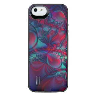 Vining Red Abstract Fractal Art iPhone SE/5/5s Battery Case