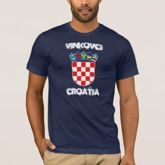 Vinkovci, Croatia with coat of arms T-Shirt