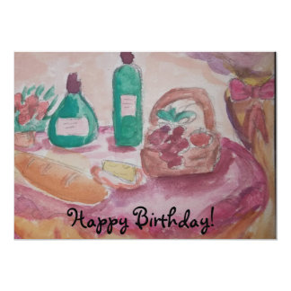 Vino for the birthday friend card