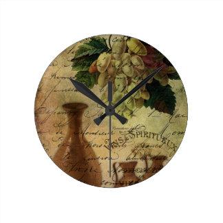Vins Spiritueux, Nectar of the Gods Round Clock