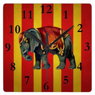 vintag circus elephant clock