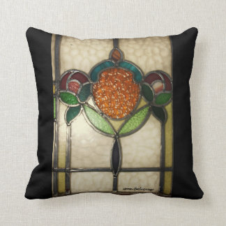 Vintage1940's STAINED GLASS PILLOW..AMERICAN MOJO Throw Pillow