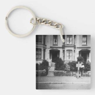 Vintage3 keyring Double-Sided square acrylic key ring