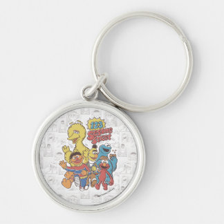 Vintage 123 Sesame Street Silver-Colored Round Key Ring