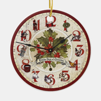 Vintage 12 Days of Christmas Ornament