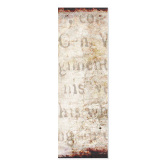 Vintage 1700s Antique Text on Parchment Paper Pack Of Skinny Business Cards