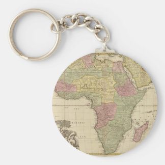 Vintage 1725 Africa Map Basic Round Button Key Ring