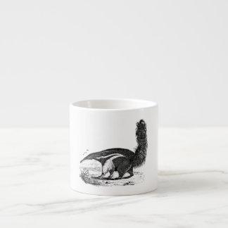 Vintage 1800s Aardvark Retro Ant Eater Template Espresso Cup