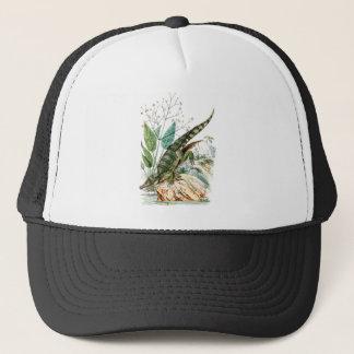 Vintage 1800s Alligator Crocodile Illustration Trucker Hat