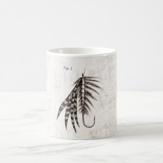 Vintage 1800s Angling Fly Fishing Flies Old Hooks Coffee Mug