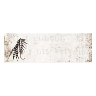 Vintage 1800s Angling Fly Fishing Flies Old Hooks Pack Of Skinny Business Cards