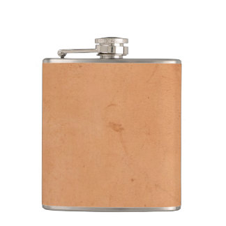 Vintage 1800s Antique Book Leather Tan Background Hip Flask